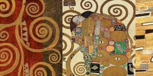 The Embrace (gold montage) by Gustav Klimt