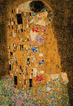Gustav Klimt The Kiss 8 Bit