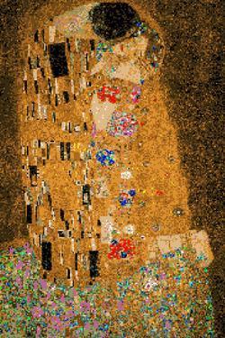 Gustav Klimt The Kiss 8 Bit