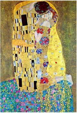 Gustav Klimt The Kiss Art Print Poster