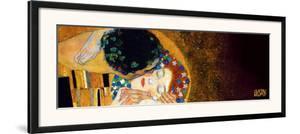 The Kiss, c.1907 (darkened detail) by Gustav Klimt