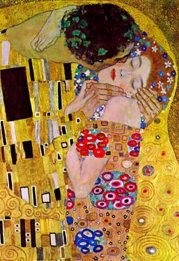 Gustav Klimt The Kiss Detail Art Print Poster