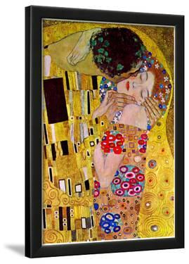 Gustav Klimt The Kiss Detail Art Print Poster