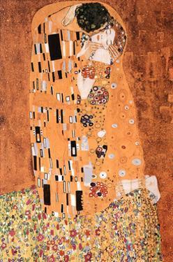 Gustav Klimt The Kiss Le Baiser Art Print Poster