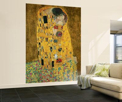 Gustav Klimt The Kiss Wall Mural & Wall Murals Posters for sale at AllPosters.com