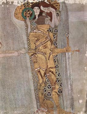 Gustav Klimt (The Knight Detail of the Beethoven Frieze) Art Poster Print