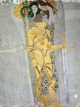 The Knight Detail of the Beethoven Frieze, Said to be a Portrait of Gustav Mahler (1860-1911), 1902 by Gustav Klimt