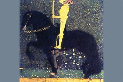 The Life of a Struggle (The Golden Knights) by Gustav Klimt