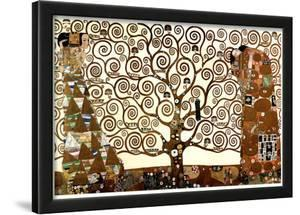 Gustav Klimt The Tree of Life in Brown and Gold Art Poster Print