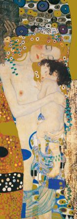 Three Ages Of Woman - Golden Metallic Ink by Gustav Klimt