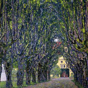 Tree-Lined Road Leading to the Manor House at Kammer, Upper Austria, 1912 by Gustav Klimt