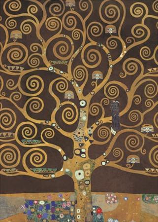 Tree of Life (Brown Variation) V by Gustav Klimt