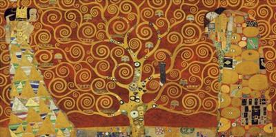 Tree of Life (red variation) by Gustav Klimt