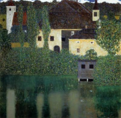 Unterach Manor on the Attersee Lake, Austria by Gustav Klimt