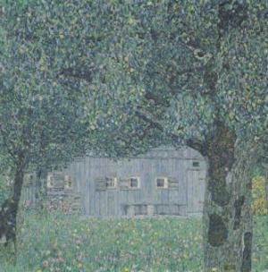 Upperaustrian Farmhouse by Gustav Klimt