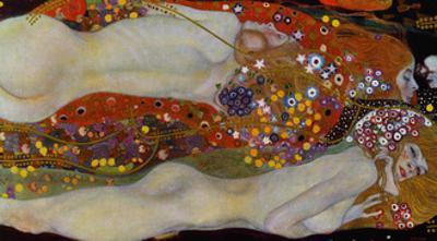 Water Serpents II, c.1907 by Gustav Klimt