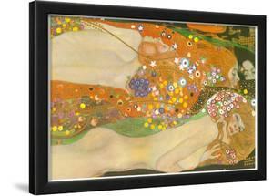 Gustav Klimt Water Snakes Friends II Art Print Poster