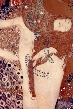 Watersnakes by Gustav Klimt