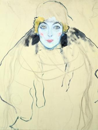 Woman's Head (Frauenkopf), 1917 by Gustav Klimt