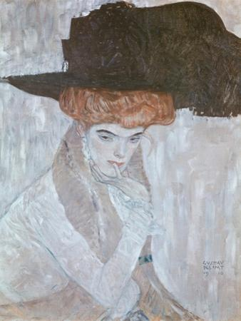Woman with Black Feather Hat, 1910 by Gustav Klimt