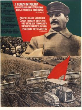 By the End of a Five-Years Plan Collectivization Should Be Finished, 1932 by Gustav Klutsis