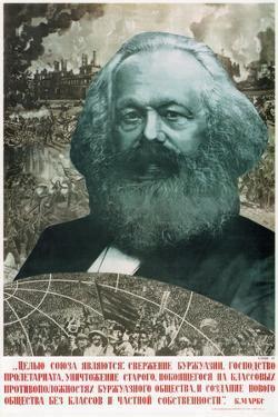 Karl Marx Collage, 1933 by Gustav Klutsis