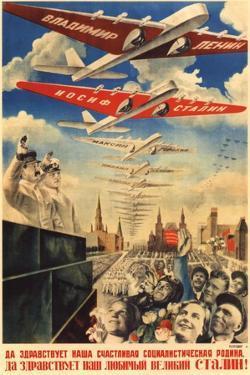 Long Live Our Happy Socialist Motherland, 1935 by Gustav Klutsis