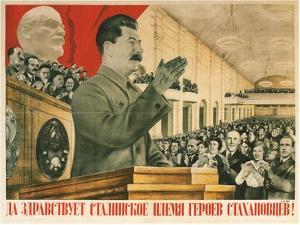 Long Live Stalin´S Generation of Stakhanov Heroes!, 1936 by Gustav Klutsis