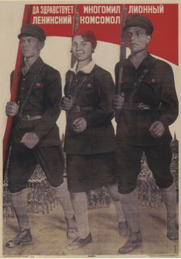 Long Live the Multi-Million-Member Leninist Komsomol, 1932 by Gustav Klutsis