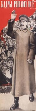 Staff Determine Every Thing, 1935 by Gustav Klutsis