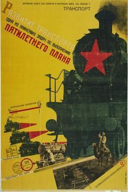 The Development of Transportation, the Five-Year Plan, 1929 by Gustav Klutsis