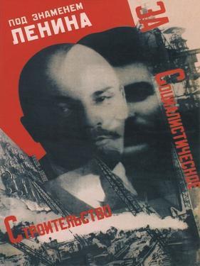 Under the Banner of Lenin, 1931 by Gustav Klutsis