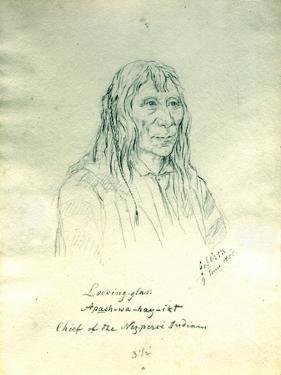 Portrait of Looking Glass Apash-Wa-Hay-Ikt Chief of the Nez Perce Indians by Gustav Sohon