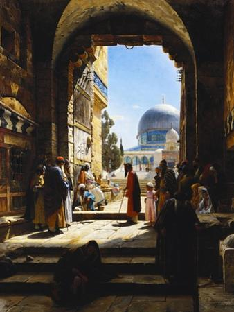 At the Entrance to the Temple Mount, Jerusalem, 1886 by Gustave Bauernfeind