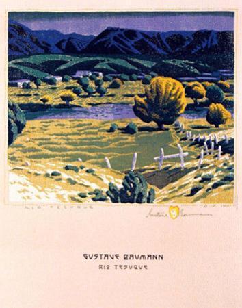 Rio Tesuque by Gustave Baumann