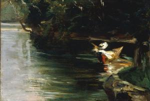 Bords de L'Yerres, c.1878 by Gustave Caillebotte