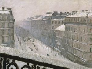 Boulevard Haussmann in the Snow, 1879 or 1881 by Gustave Caillebotte