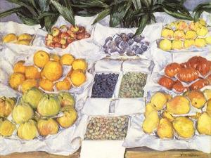 Fruit Displayed on a Stand, 1881 by Gustave Caillebotte