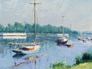Le bassin d'Argenteuil. 1882 by Gustave Caillebotte