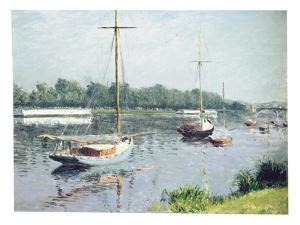 Le Bassin D'Argenteuil, C.1882 by Gustave Caillebotte