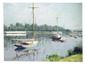 Le Bassin D'Argenteuil, C.1882 by Gustave Caillebotte