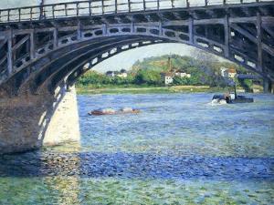 Le Pont D'Argenteuil Et La Seine, Ca. 1883 by Gustave Caillebotte