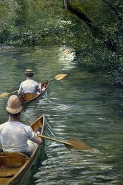 Les Périssoires by Gustave Caillebotte
