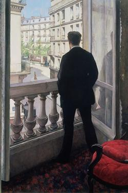 Man at the Window. 1875 by Gustave Caillebotte