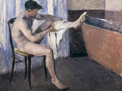 Man Drying His Leg