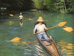 Men Sculling, 1877 by Gustave Caillebotte