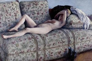 Nude on a Couch, C.1880 by Gustave Caillebotte