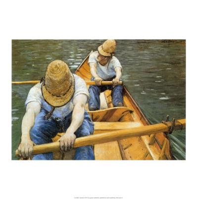 Oarsmen by Gustave Caillebotte