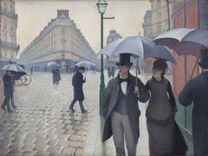Paris Street; Rainy Day, 1877 by Gustave Caillebotte