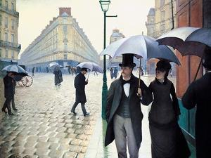 'Paris Street; Rainy Day', 1877 by Gustave Caillebotte